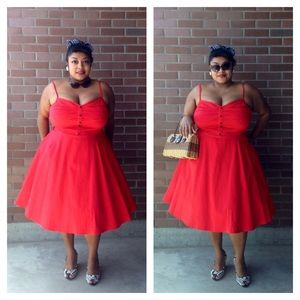 The perfect red 50s dress
